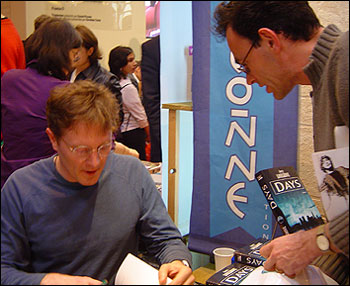 James Lovegrove at a signing in France