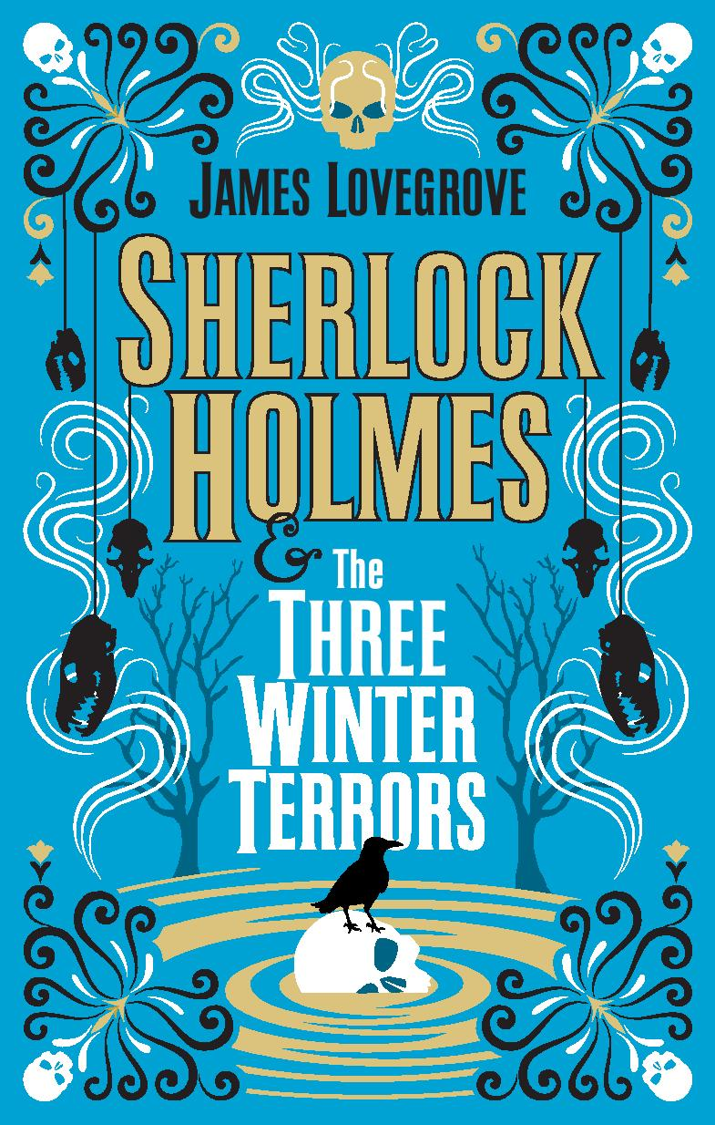 Sherlock Homes and The Tree Winter Terrors blue and gold cover